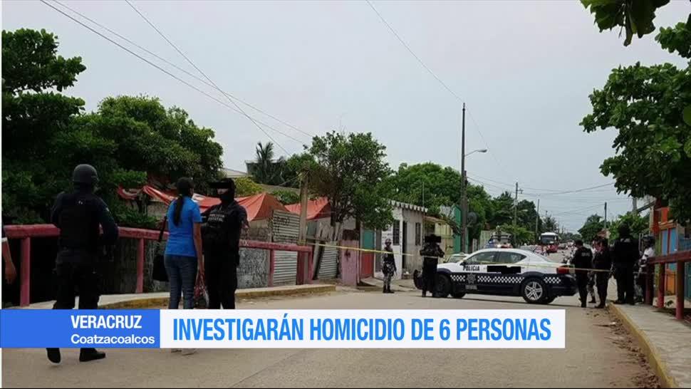 Investigarán, homicidio 6 personas, Coatzacoalcos, Veracruz