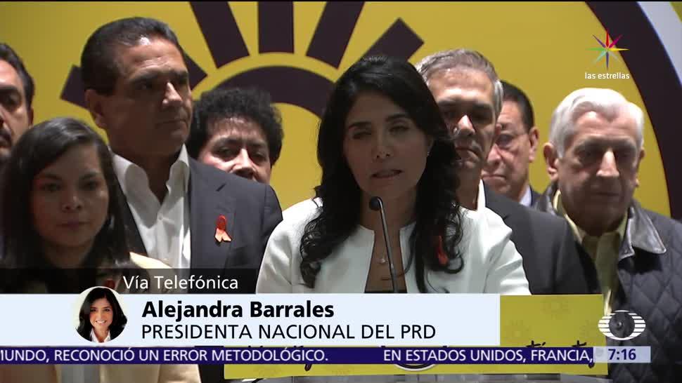 Alejandra Barrales, lider nacional del PRD, propuesta, frente amplio opositor