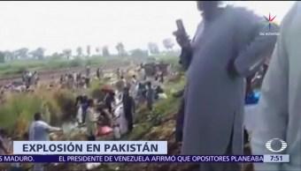 153 personas, heridas, explosión, pipa de combustible, Pakistán