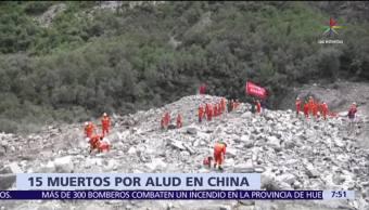 deslave, aldea en China, cuerpos, desaparecidos