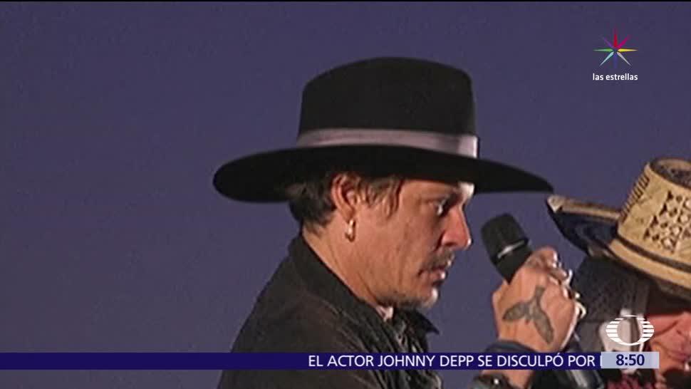 actor Johnny Depp, broma, presidente Donald Trump, chiste