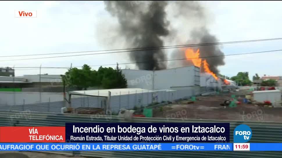 Román Estrada, Protección Civil, Emergencia, lztacalco, bodega de vinos, incendio