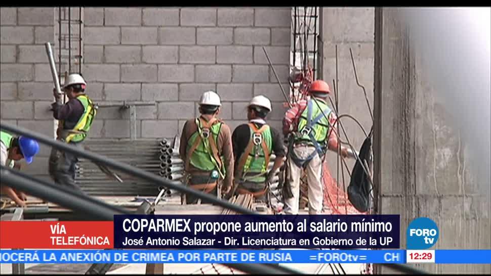 José Antonio Salazar, salario mínimo, propuesta, Coparmex