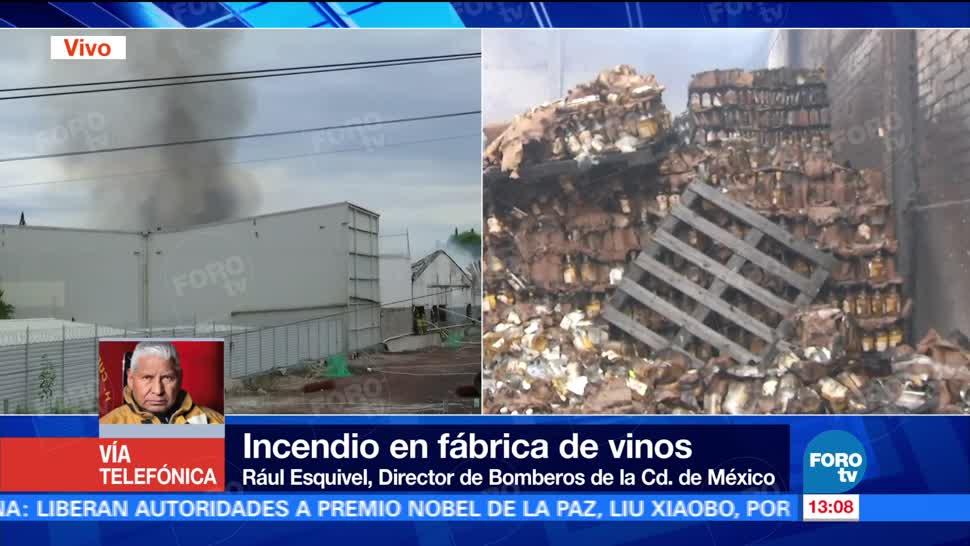 Raúl Esquivel, Controlan, incendio, fábrica de Iztacalco