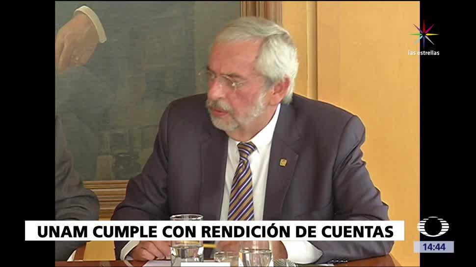 Universidad Nacional Autónoma UNAM, entrega, cuenta pública
