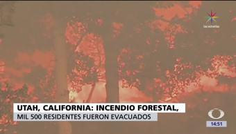 Incendio, California, Utah, incendio forestal