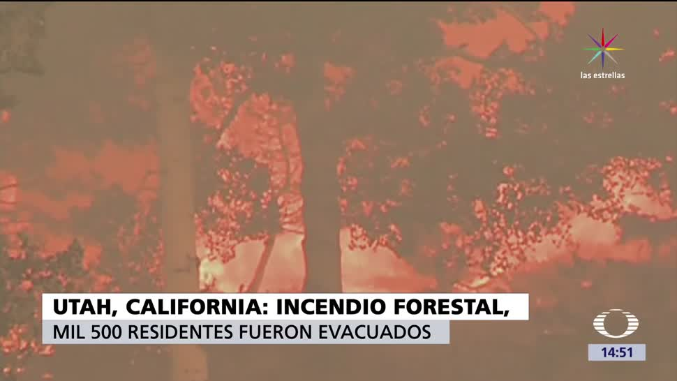 Incendio, California, Utah, incendio forestal