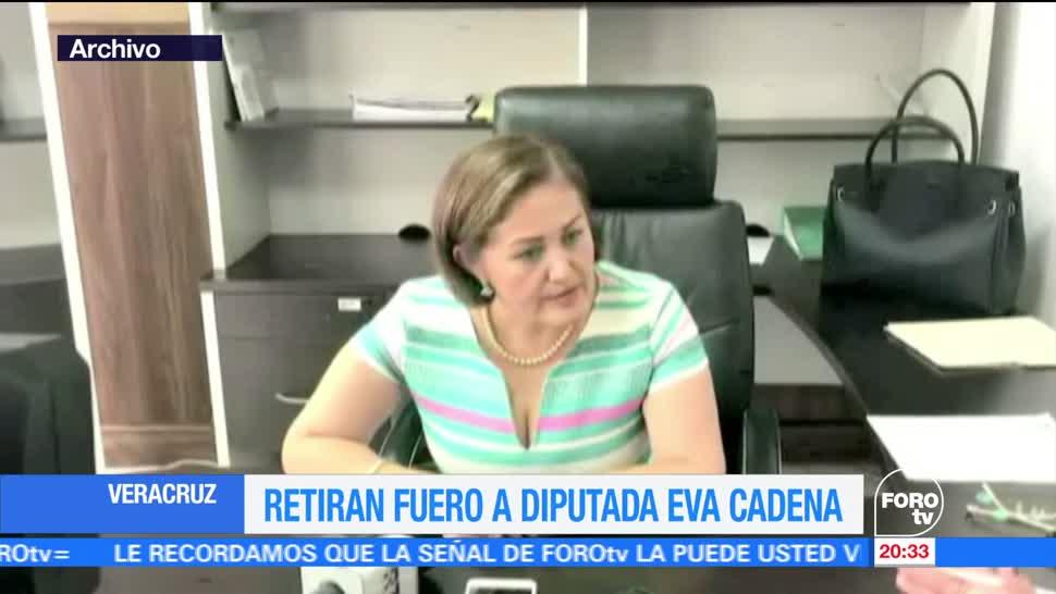 noticias, forotv, Retiran, fuero, diputada, Eva Cadena