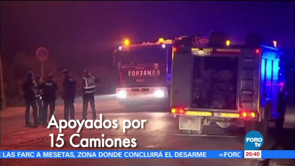 noticias, forotv, Bomberos, combaten incendio, parque nacional, España