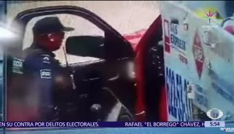 video capta, repartidor de gas doméstico, extorsionado, Irapuato, Guanajuato