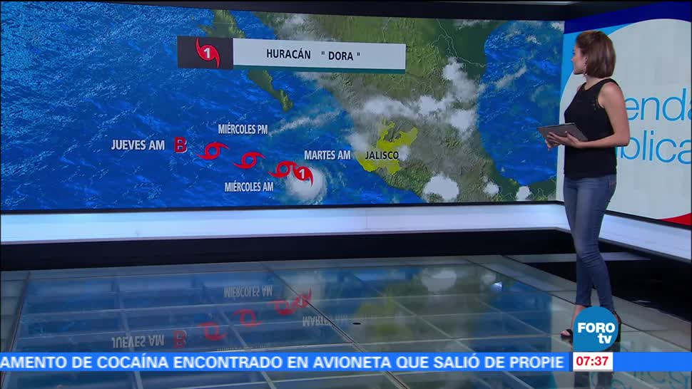 huracán Dora, kilómetros, Cabo San Lucas, Baja California Sur