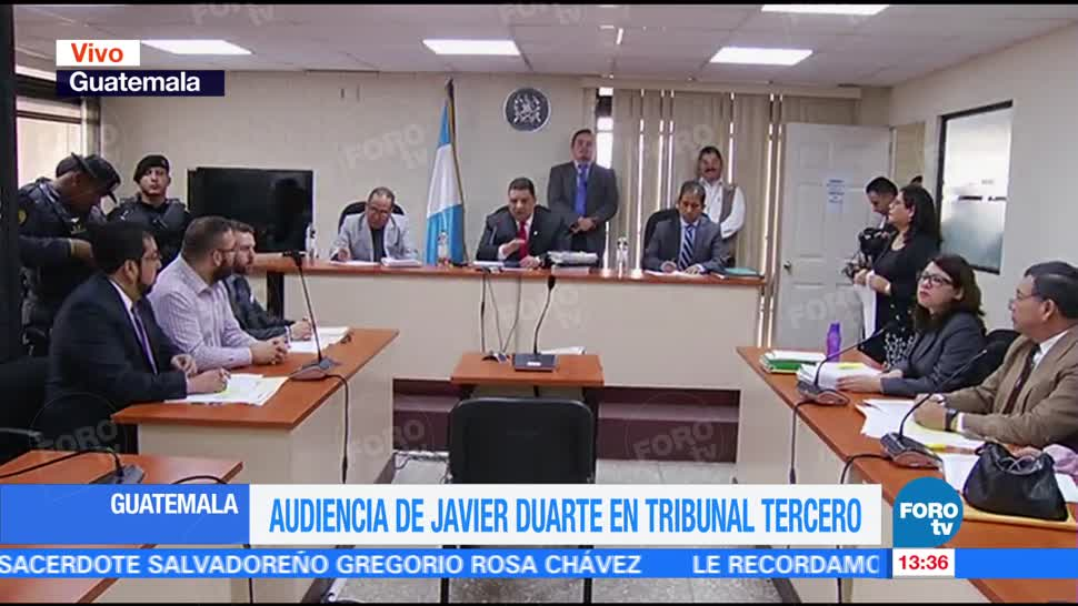 Inicia audiencia, Javier Duarte, tribunal, Guatemala
