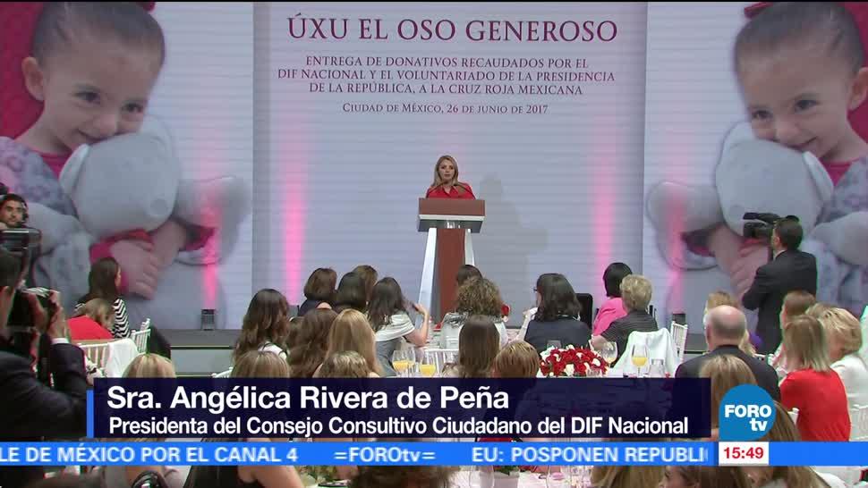Angélica Rivera, reconoce, voluntarios, Cruz Roja