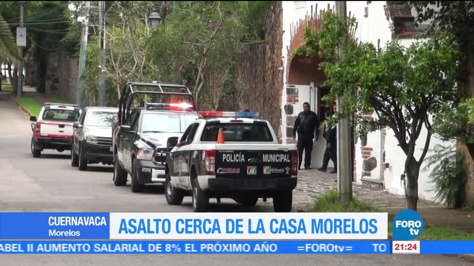 noticias, forotv, Asalto, cerca, Casa Morelos, Cuernavaca