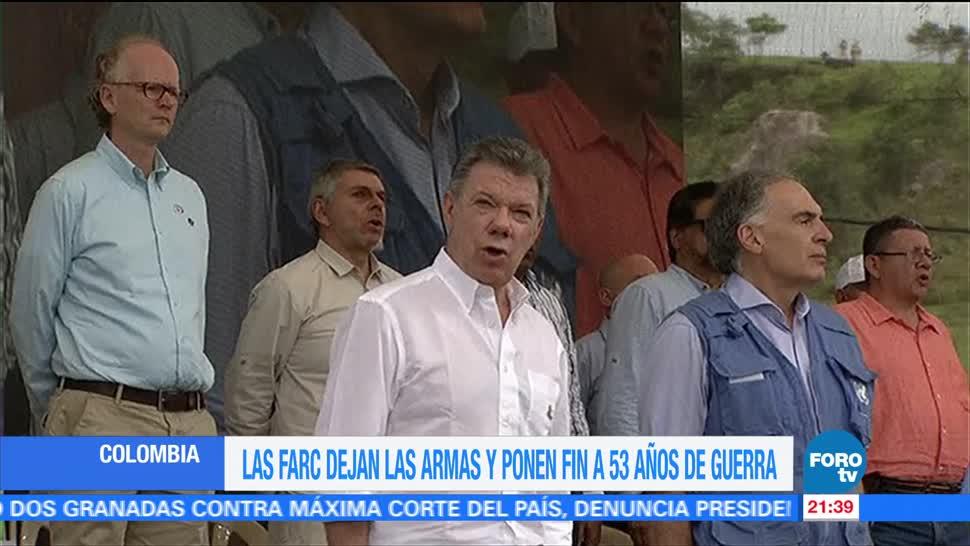 noticias, forotv, Las FARC, dejan las armas, ponen fin, 53 años de guerra