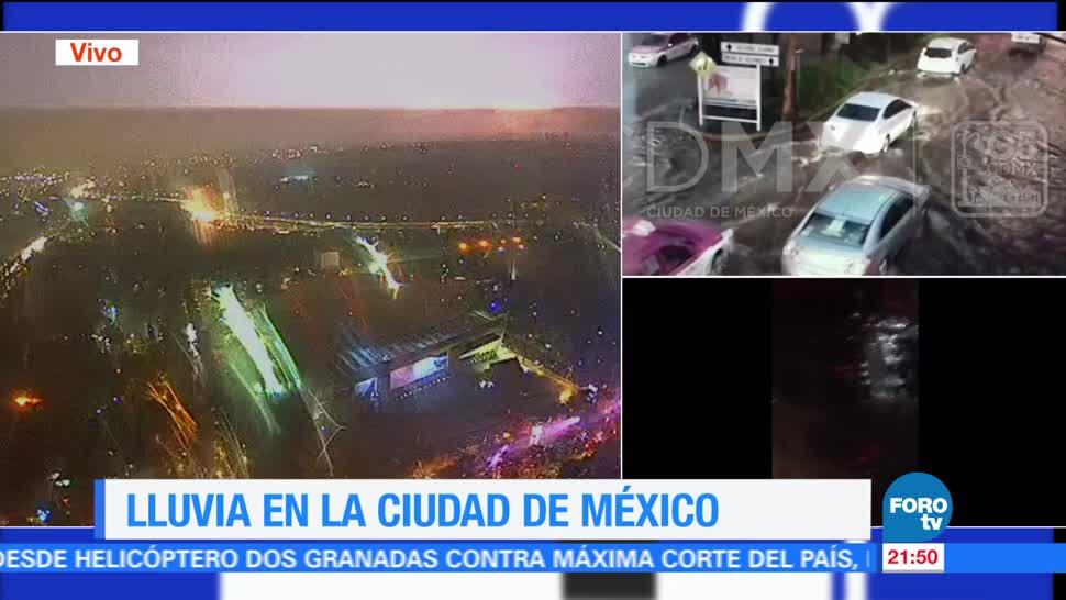noticias, forotv, Intensa, lluvia, provoca caos, CDMX