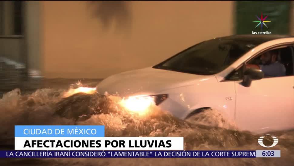 Lluvias afectan las delegaciones, Tlalpan, Xochimilco, Iztapalapa