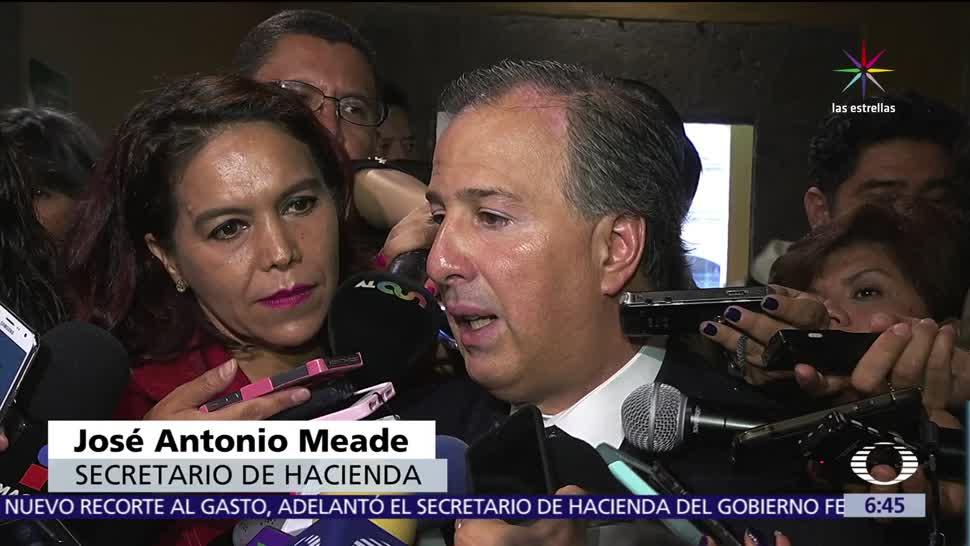 José Antonio Meade, secretario de Hacienda, anticipa, nuevo recorte al gasto público