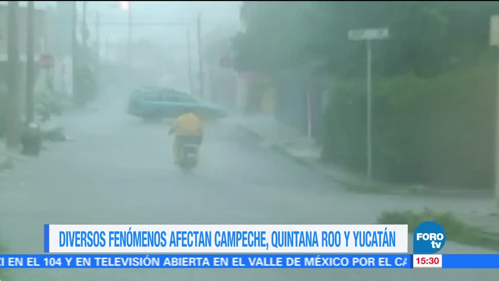 onda tropical, lluvias, Campeche, Quintana Roo, Yucatán, marejadas