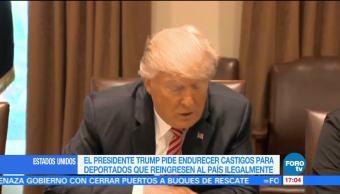 presidente Donald Trump, castigos, deportados, Estados Unidos