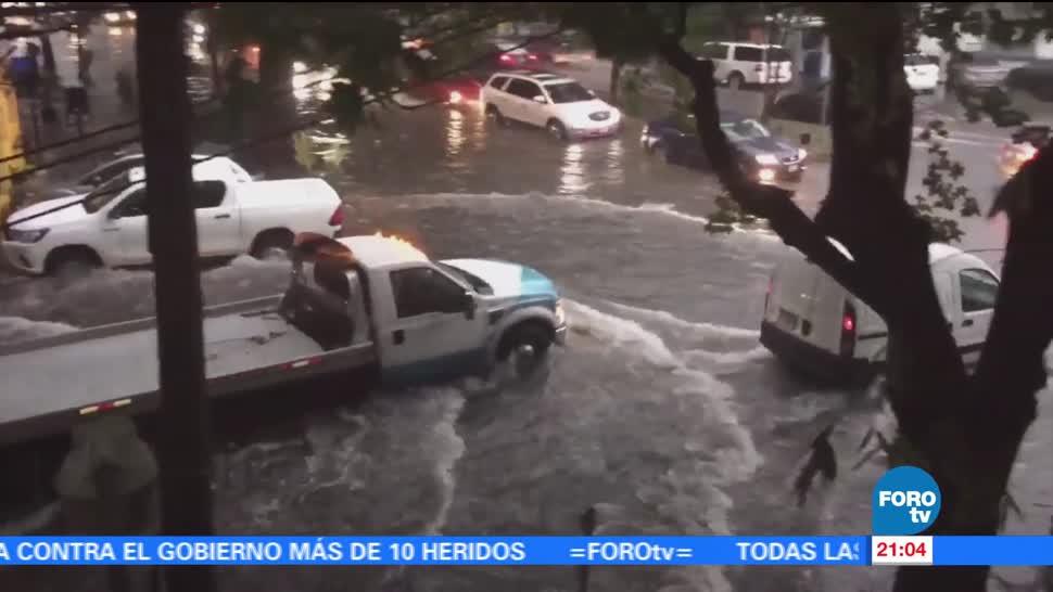 noticias, forotv, Afectaciones, severas, lluvia, CDMX
