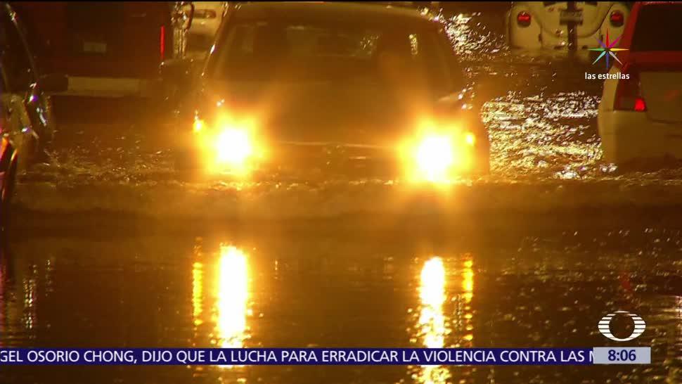 Lluvias, afectan, tránsito vehicular, CDMX