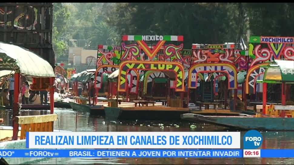 Extra Extra, Realizan limpieza, canales, Xochimilco