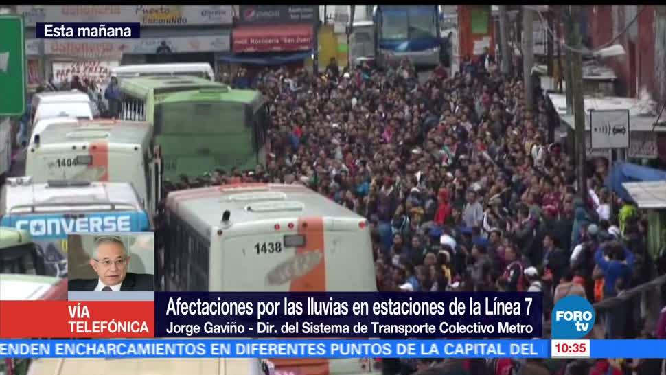 Director, Metro CDMX, cierre por lluvias, Jorge Gaviño