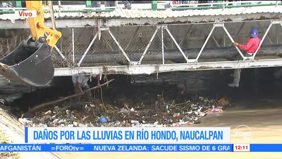 lluvias, CDMX, desbordamiento, río Hondo, Naucalpan, Edomex