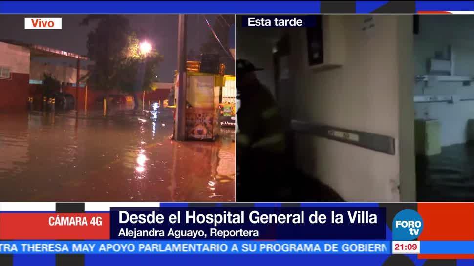 noticias, forotv, Tras lluvias, desalojan a pacientes, Hospital General de la Villa, Inundacion