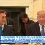 noticias, forotv, Trump, presidente surcoreano, reúnen, Washington