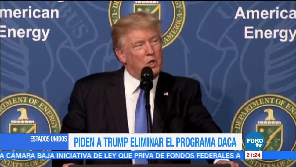 noticias, forotv, Piden, Trump, eliminar el programa, DACA
