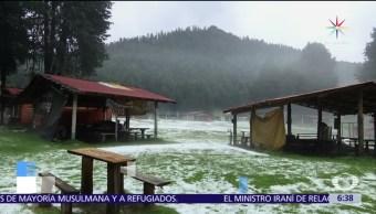 noticias, televisa, Granizada, afecta, La Marquesa, parte alta del municipio de Ocoyoacaca