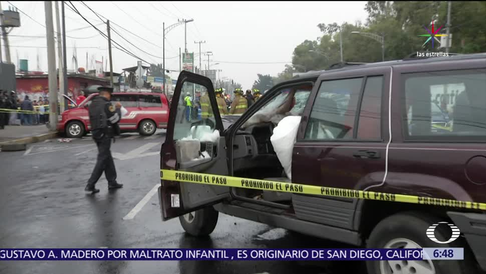 noticias, televisa, Transporte escolar, choca, Iztapalapa, un muerto