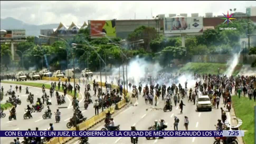 noticias, televisa, Se cumplen, 13 semanas, protestas, régimen Nicolás Maduro