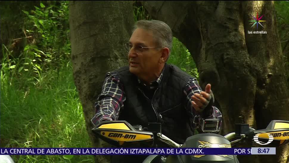 noticias, televisa, Conociendo, Luis Felipe Puente, entrevista en cuatrimoto, Protección Civil