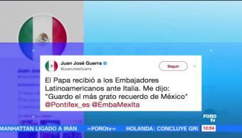Vaticano, papa Francisco, grato recuerdo, México, Instituto Italo-latinoamericano