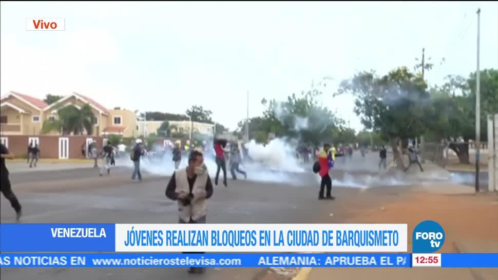 ciudad de Barquismeto, municipio de Iribarren, bloqueos, diversas calles