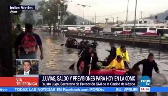 noticias, forotv, CDMX, alertamientos preventivos, lluvias, Fausto Lugo