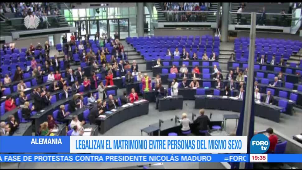 Legalizan, matrimonio, mismo sexo, Alemania