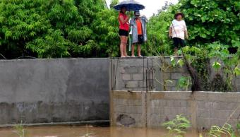 Damnificados por lluvias en Salina Cruz, Oaxaca