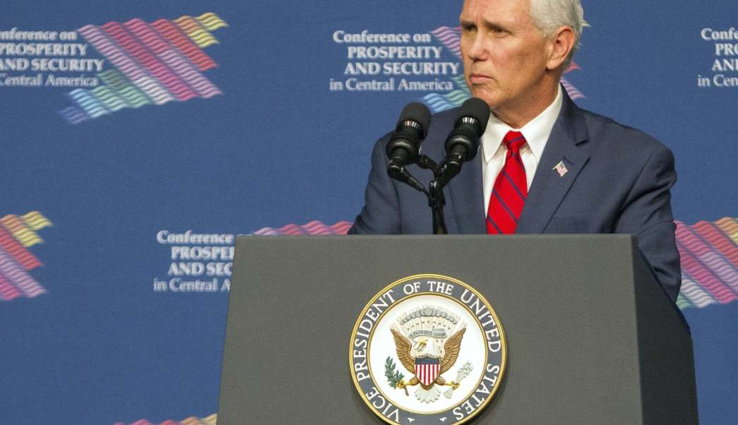 Estados Unidos, vicepresidente de EU, Mike Pence, Conferencia