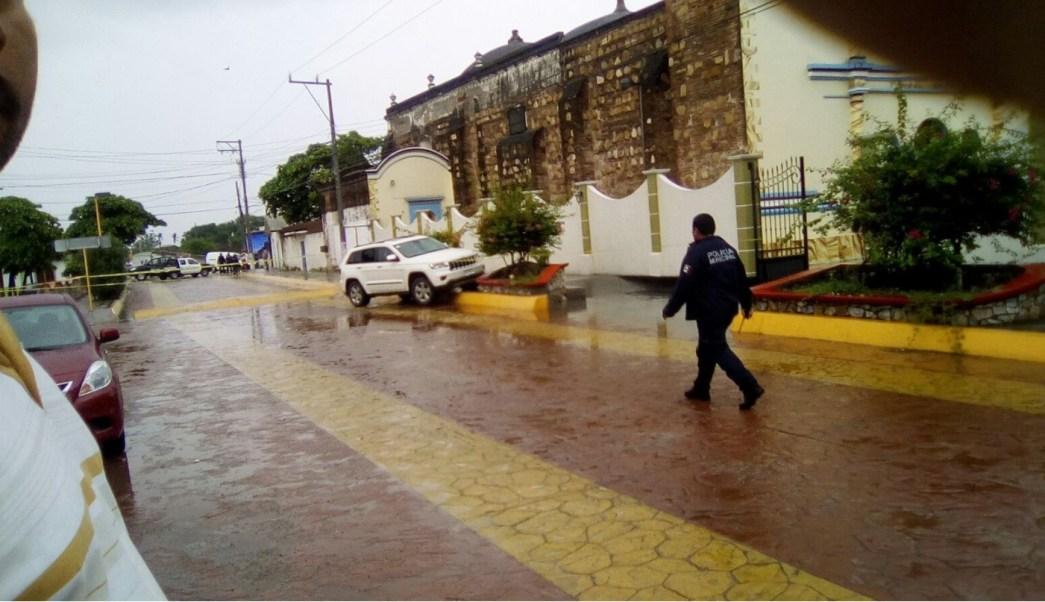 camioneta donde fue agredido el alcalde de Ixtaltepec