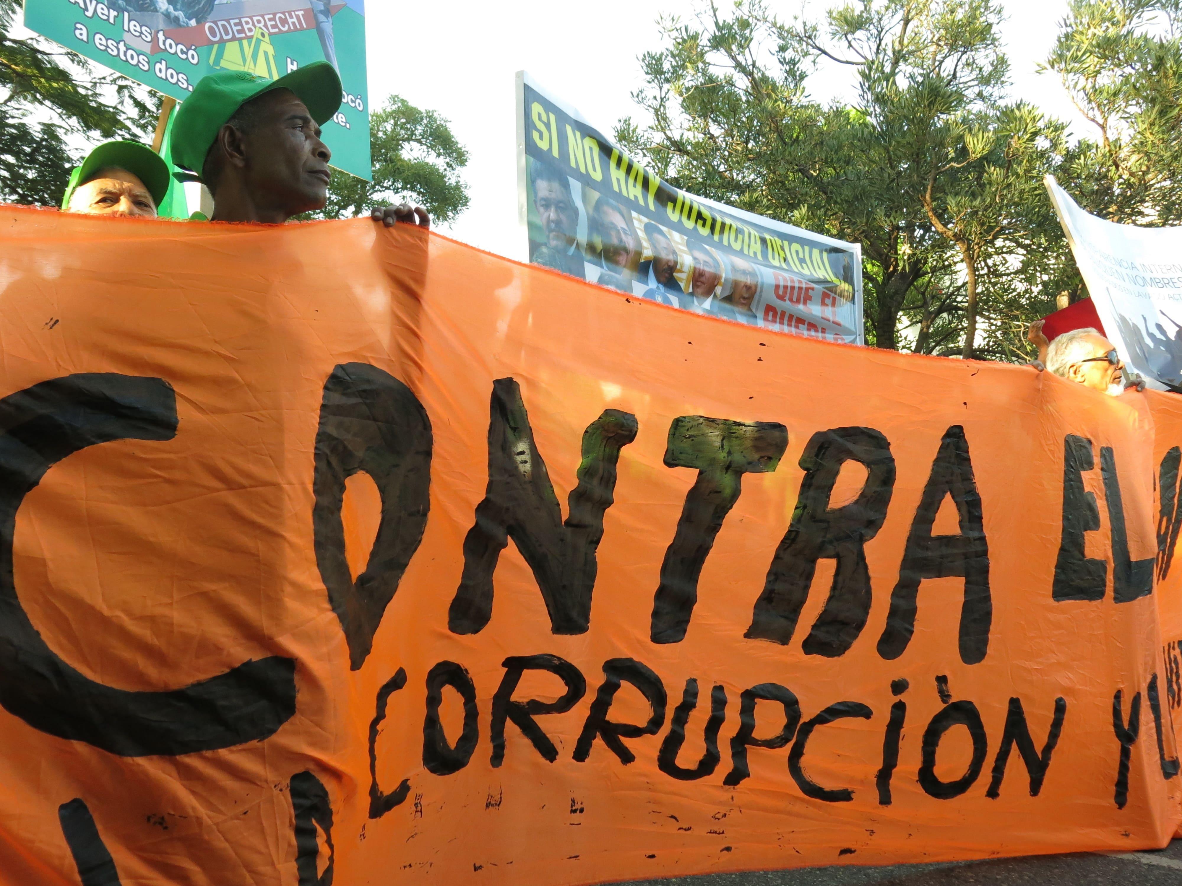 Protesta por el caso Odebrecht en Brasil