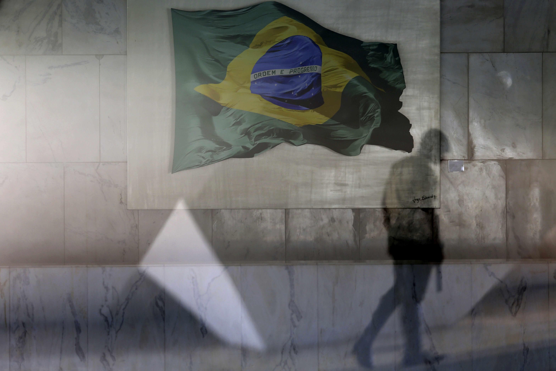 Fotografía de bandera brasileña relacionada al caso Odebrecht
