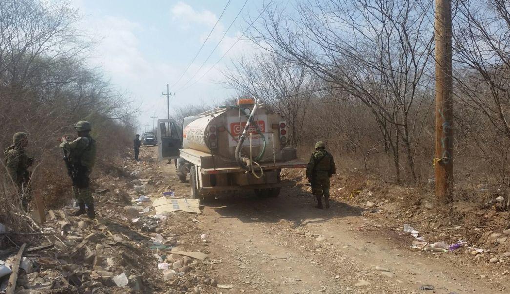 Pipa hallada con combustible robado en Culiacan