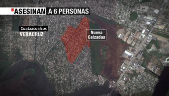 Ejecutan a 4 menores y dos adultos en Coatzacoalcos, Veracruz