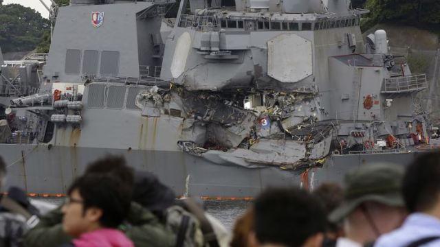 Cuerpos, Desaparecidos, Destructor, EU, Choque, Soldados, USS Fitzgerald