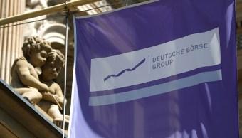 Detalle de la fachada de la Bolsa de Frankfurt