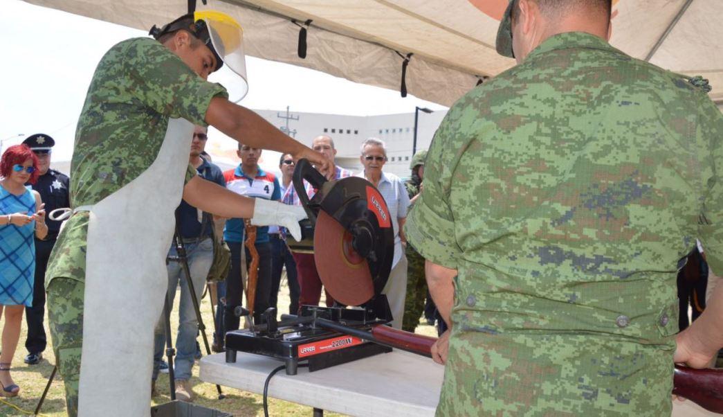 MIlitares destruyen armas en tlajomulco jalisco